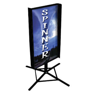 Catch people's attention with these Spinner Sign Holders!