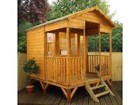 10x8 - Premium Beach Hut Summerhouse - FREE DELIVERY