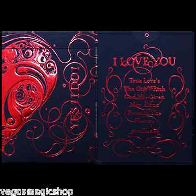 Love Promise Red Deck Bicycle Playing Cards Poker Size Custom Limited Edition