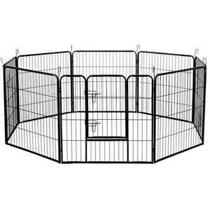 i.Pet 8 Panel Pet Dog Playpen Puppy Exercise Cage Enclosure Fence