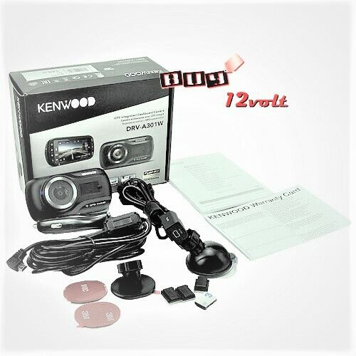 KENWOOD DRV-A501WDP GPS Integrated Dual Dash Cam + Full HD r
