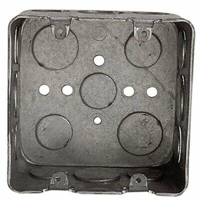Steel City 30-cu In 2-gang Square Metal Electrical Box