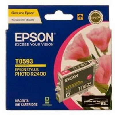 - NEW Genuine Epson T0593 Magenta Ink Cart Stylus R2400