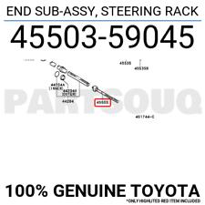 4550359045 Genuine Toyota END SUB-ASSY, STEERING RACK
