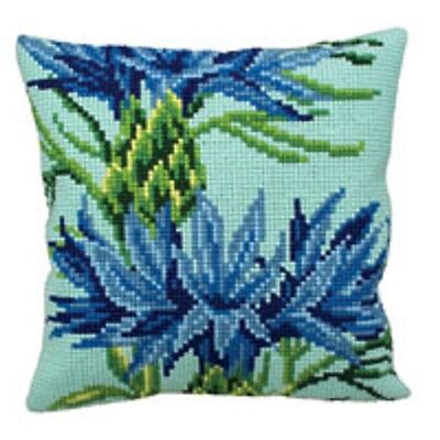 "Collection D'Art CORNFLOWER Chunky X Stitch Cushion Front Kit 16"" X 16"""