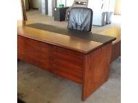 Rosewood Office Desk Set