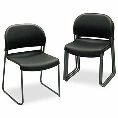 Hon Gueststacker 4031 Armless Guest Chair - Polymer Black Seat - Back - Steel