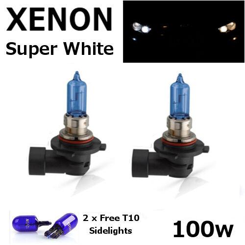 HB3 100w SUPER WHITE XENON (9005) UPGRADE Head Light Bulbs 12v + 501 Sidelights