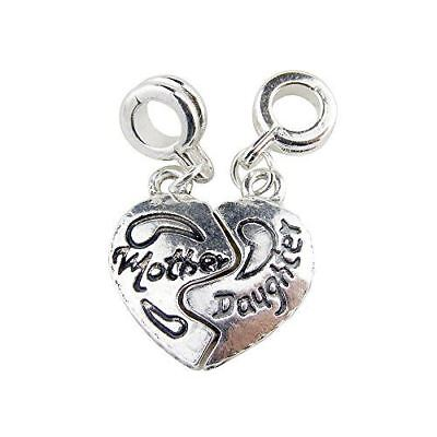 Universal Two Charms Split Heart Mother Daughter](Mother Daughter Charms)