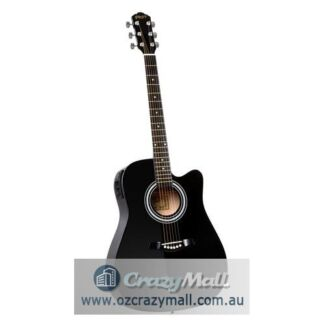 """41"""" Electric Wooden Acoustic Guitar Classical Black or Natural"""