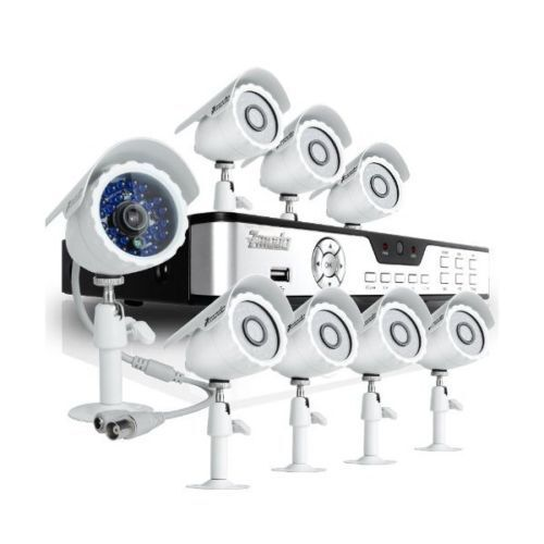 Zmodo KDB8-BARBZ8ZN-500GB 8-CH H.264 DVR with 500 GB HDD and Eight CMOS 480TVL 65-Ft. IR Outdoor Security Cameras