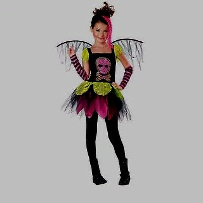 Punk Pixie Totally Ghoul Girl's Fairy Costume Pink Skull Size Small ](Skull Fairy Costume)