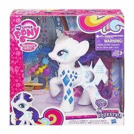my little pony rarity glamour glow pony bnib.
