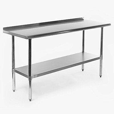 Stainless Steel Commercial Kitchen Restaurant Work Prep Table Backsplash 60x24