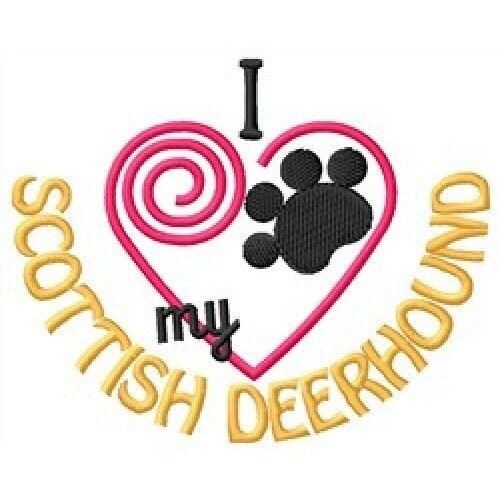 "I ""Heart"" My Scottish Deerhound Short-Sleeved T-Shirt 1329-2"