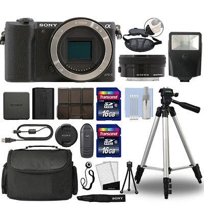 Sony Alpha a5100 Mirrorless Digital Camera with 16-50mm Lens Black + 32GB Bundle