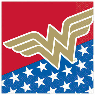 Wonder Woman Birthday Party (WONDER WOMAN Classic LUNCH NAPKINS (16) ~ Birthday Party Supplies Serviettes)