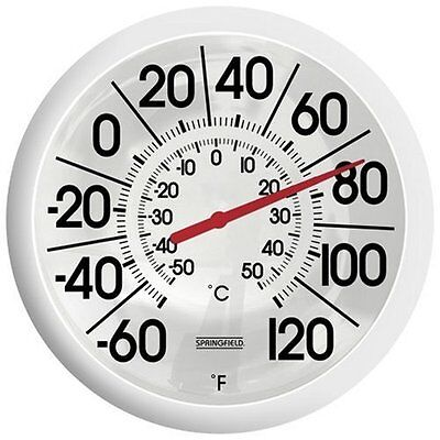 Reading Celsius Thermometer - Extra Large Jumbo Big Easy Read Outdoor Patio Pool Deck Thermometer w/Celsius