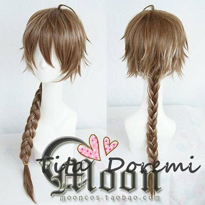 Halloween Wig Cosplay Dream world and 100 sleeping princes brown mix long Hair - Public Dreams Halloween