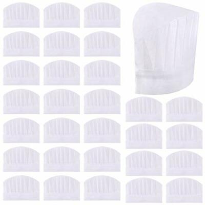 Sntieecr 30 Pack 8 Inch Kids White Paper Chef Hats Adjustable Chef Toques Kitc