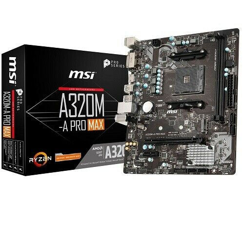 MSI Pro Series AMD A320-A Pro Max Motherboard - AMD A320 Chipset - Socket AM4 -