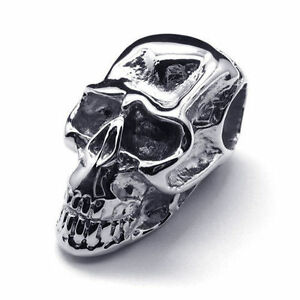Stainless Steel Skull Pendant + Box Chain