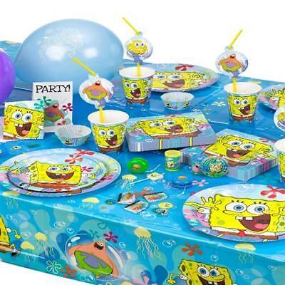 SPONGE BOB Spongebob Kinder Motto Party Kindergeburtstag Geburtstag AUSWAHL ()