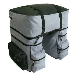 XL-BICYCLE-PANNIER-BAG-WATER-RESISTANT-REAR-BIKE-RACK-CARRIER-c-w-RAIN-COVER