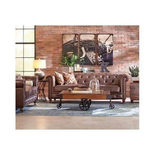 Leather Chesterfield Sofa | Ebay