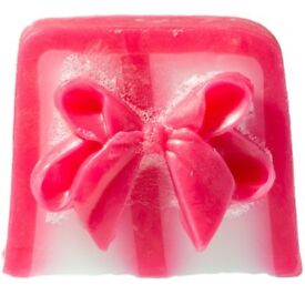 Pink bow soap slice 100g