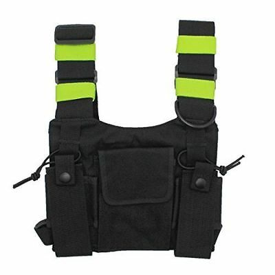 Universal Radio Harness Chest Rig Bag Holster Vest Police Walkie-talkie Bag