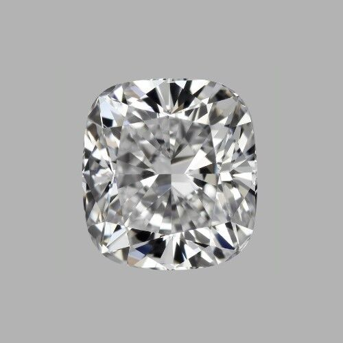 Moissanite 2 CT,   7*7mm colour G,VVS1 Cushion Forever brilliant including certificate