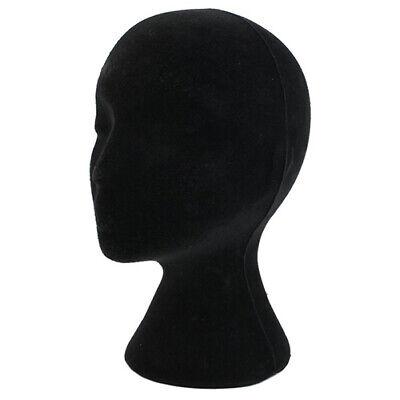 Black Female Styrofoam Foam Mannequin Head Model Wig Glasses Hat Display Stand