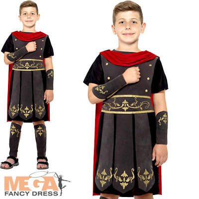 Roman Soldier Boys Ancient Greek Rome Historical Gladiator Childs Kids Costume - Roman Gladiator Costume Kids
