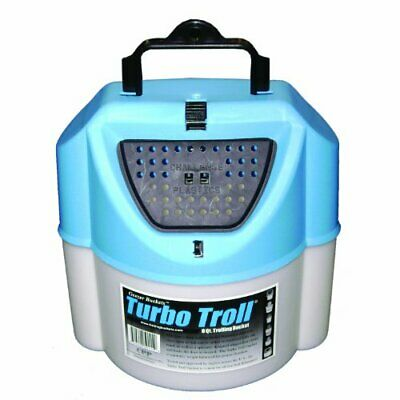 Challenge 50114 Turbo Troll Bait Bucket, 8 Quart, -