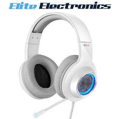 Edifier V4 G4 7.1 Virtual Surround Sound USB LED Gaming Headset White