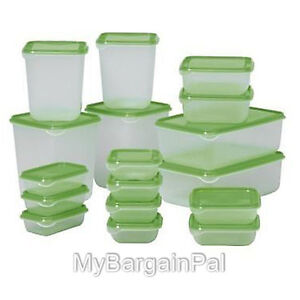 IKEA-NEW-PRUTA-34-PIECE-FOOD-STORAGE-SAVER-CONTAINER-BPA-FREE-PLASTIC-SET-LOT