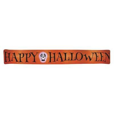 COLOSSAL 16 ft Lighted HAPPY HALLOWEEN Sign Banner Airblown Inflatable Yard