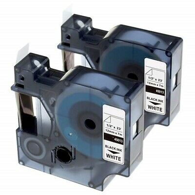 2-pkpack D1 Label Tape 45013 S0720530 For Dymo Labelmanager 160 280 420p