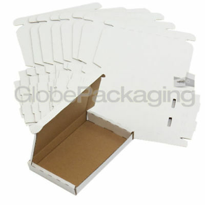 5 x WHITE PIP LARGE LETTER CARDBOARD POSTAL MAIL BOXES 160x110x20mm PHONES ETC