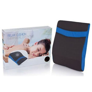 Massage Relax Cushion Vibrating Pillow Portable Car Seat Back Stress Pain Relief