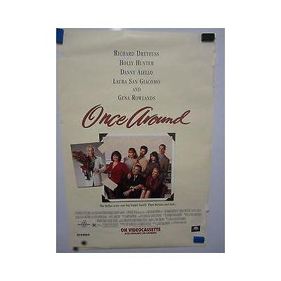 ONCE AROUND Holly Hunter Richard Dreyfuss Original Vintage Video Movie Poster