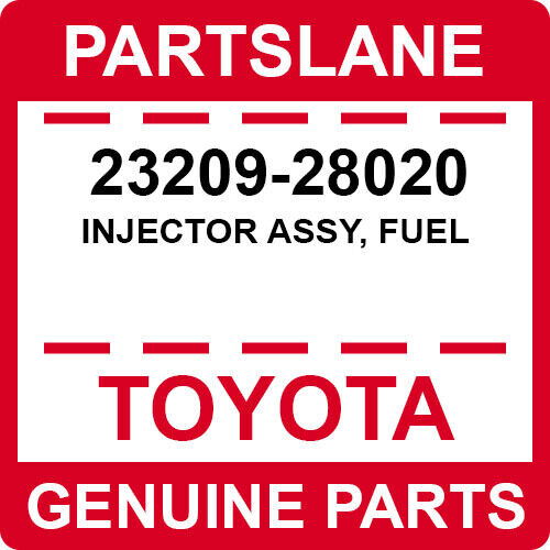 23209-28020 Toyota Oem Genuine Injector Assy, Fuel