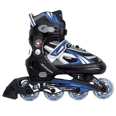 Schwinn Boy's Adjustable Inline Skate - Black/Blue 5-8