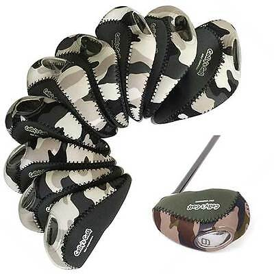 Neoprene Golf Club Iron Head Covers For Taylormade,Ping,Mizuno,Titleist Military