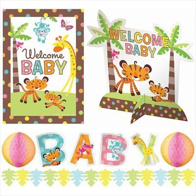 FISHER PRICE BABY SHOWER ROOM DECORATING KIT (10pc) ~ Party Supplies Centerpiece - Fisher Price Baby Shower Decorations