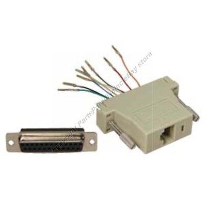Lot150 DB25pin Female~RJ45 Jack Modular Adapter8P8C for Network/Ethernet Cat5e/6 Db25 Network Adapter