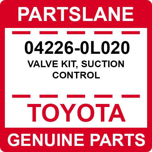 04226-0l020 Toyota Oem Genuine Valve Kit, Suction Control