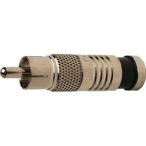 Platinum Tools 18051C RCA RG6 Connectors, Nickel Plate. 6 Pcs.