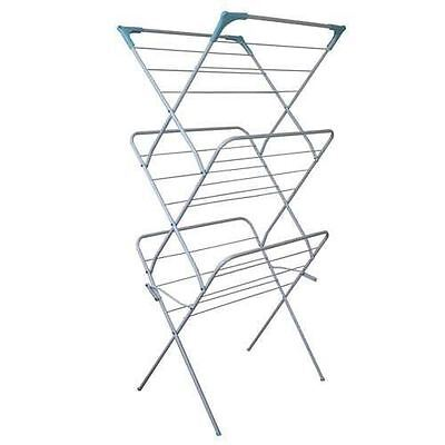 New Concertina 3 Tier Clothes Towel Airer Laundry Dryer Indoor Outdoor Folding